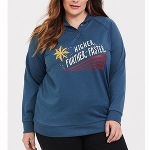 TORRID HER UNIVERSE CAPTAIN MARVEL SLEEP HOODIE